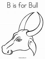 Bull Coloring Horns Drawing Pages Head Getdrawings Twistynoodle Animal sketch template