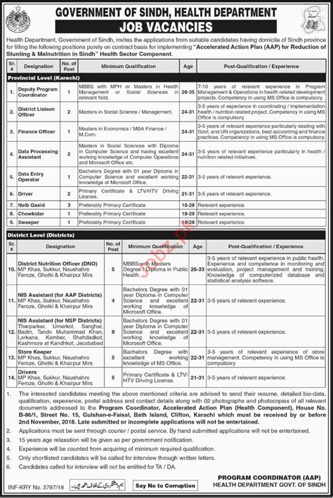 Our products include affordability, greater. Health Department SINDH Jobs 2018 | Health department ...
