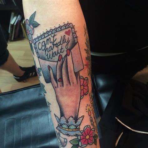 cute tattoos girly letter tattooist hand tattoo
