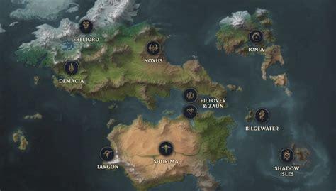 league  legends   interactive runeterra map