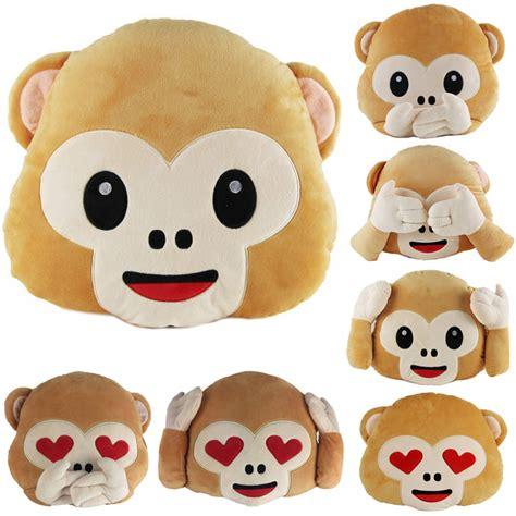 emoji throw pillows 40cm lovely emoji monkey throw pillow plush stuffed