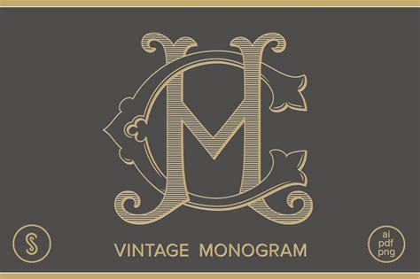 ch monogram hc monogram illustrations creative market