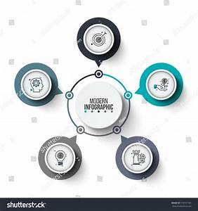 Vector Circle Infographic Template Cycle Diagram Stock Vector 519797185