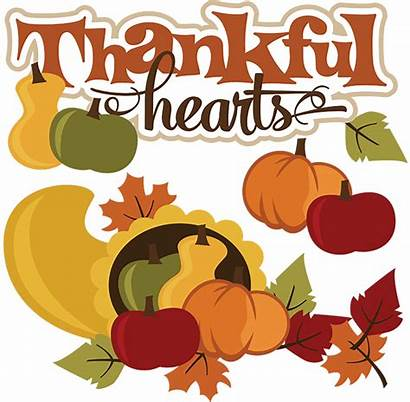Thanksgiving Clipart Thankful Clip Hearts Cornucopia Svg