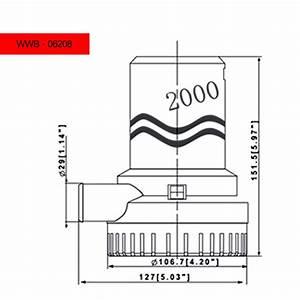 2000 Gph Bilge Pump - 12v    24v - Dc - 1 In