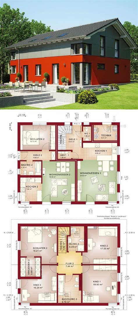 Moderne Häuser Bauen Mit Satteldach by Zweifamilienhaus Modern Mit Einliegerwohnung Satteldach