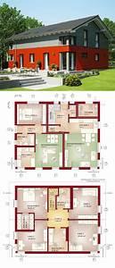 Bauen Zweifamilienhaus Grundriss : zweifamilienhaus modern mit einliegerwohnung satteldach ~ Lizthompson.info Haus und Dekorationen