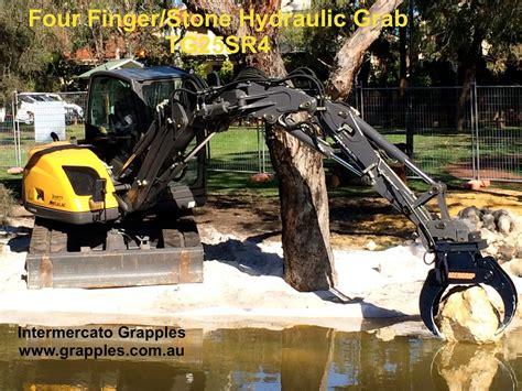 excavator grabs excavator grab