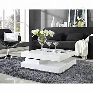 Table Basse Moderne Pas Cher : table basse blanche pas cher ~ Teatrodelosmanantiales.com Idées de Décoration