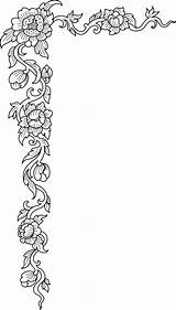 Flower Corner Borders Coloring Border Pages Patterns Diary Leather Pattern Designs Floral Debate Corners Carving Embroidery Stencils Craft Liveinternet Bellos sketch template