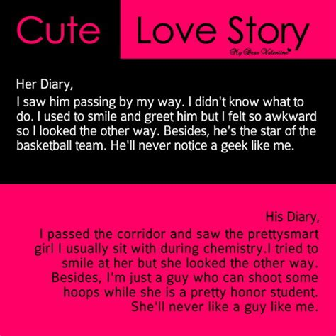 cute short love story quotes