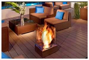 Cheminee Exterieur Bois : design jardins chemin es thanol pour l 39 exterieur ~ Premium-room.com Idées de Décoration