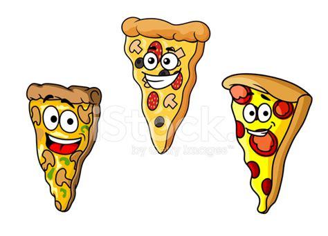 Fatias De Pizza De Desenhos Animados Fotos Do Acervo