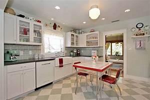 retro kitchens curved white finish oak kitchen cabinet With kitchen colors with white cabinets with vintage superhero wall art