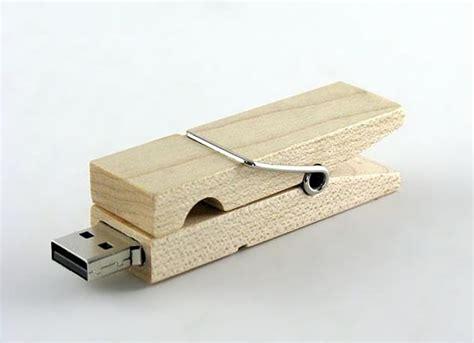 clothespin wooden usb flash drive gadgetsin