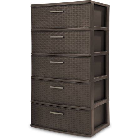 sterilite 5 drawer cart sterilite 5 drawer weave tower espresso walmart