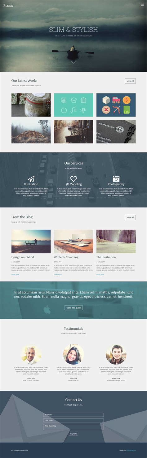 github website template github technext flusk flusk a responsive multi purpose website template with bootstrap 3