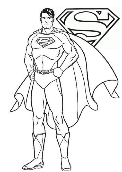 disegni da stare per maschietti disegno di superman da colorare