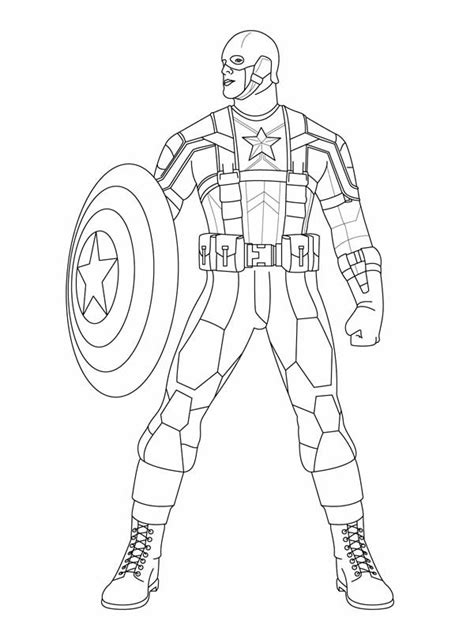 disegni da colorare marvel heroes marvel heroes captain america coloring page coloring