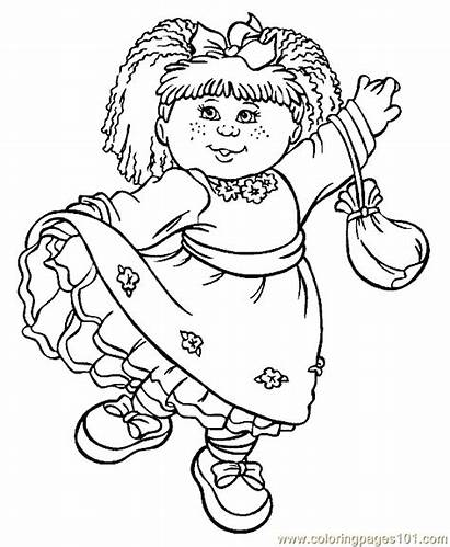 Cabbage Patch Coloring Pages Cartoon Colouring Printable