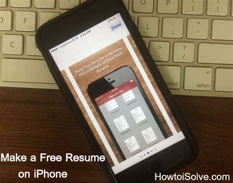 how to make a resume on iphone build attractive