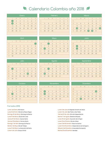 calendario colombia festivoscalendario colombia ao