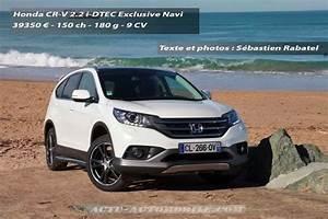 Honda Cr V Exclusive Navi : essai honda cr v exclusive navi 2 2 i dtec 150 bva actu automobile ~ Gottalentnigeria.com Avis de Voitures