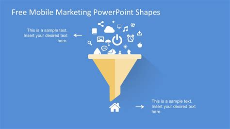 free marketing free mobile marketing powerpoint shapes