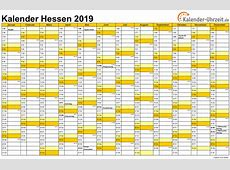 Feiertage 2019 Hessen + Kalender