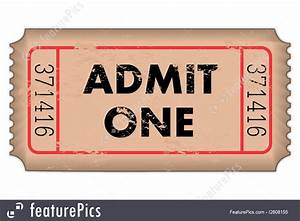 Print Free Raffle Tickets Office And Close Up Vintage Ticket Stock Illustration