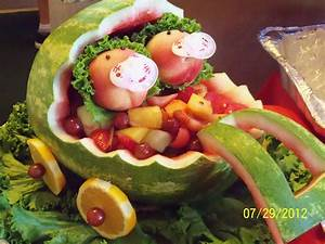 For the twins shower - fairly easy to make. Watermelon ...