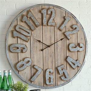 Clocks, -, Decor, Objects, Farmhouse, Metal, And, Wood, Plank, Clock