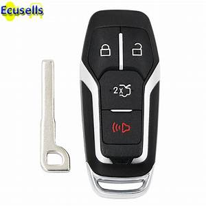 New Replacement 3+1 buttons Remote key shell case fob for Ford Fusion Mustang Fusion Edge for ...