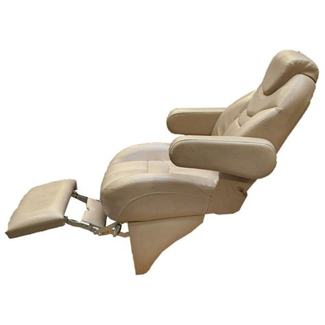 used pontoon captains chair harbor reclining pontoon boat captains chair w footrest