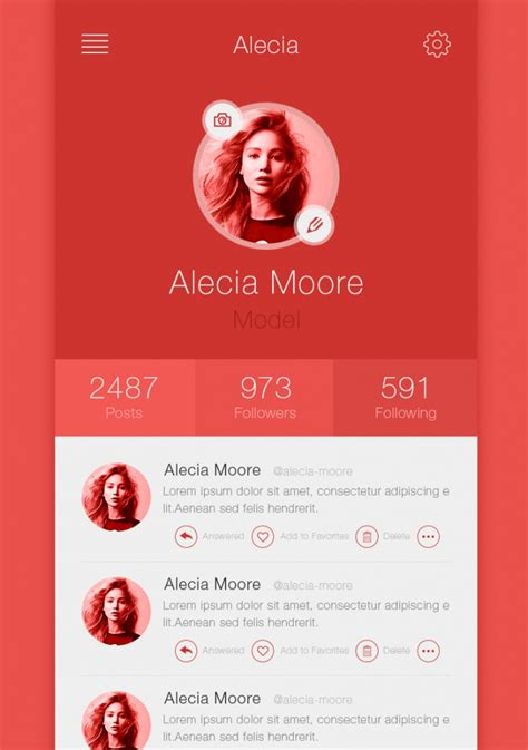 Best Examples App Profile Page Designs Design