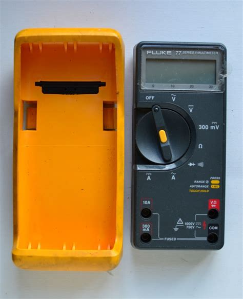 fluke 77 series ii multimeter with leads rugged yellow ebay
