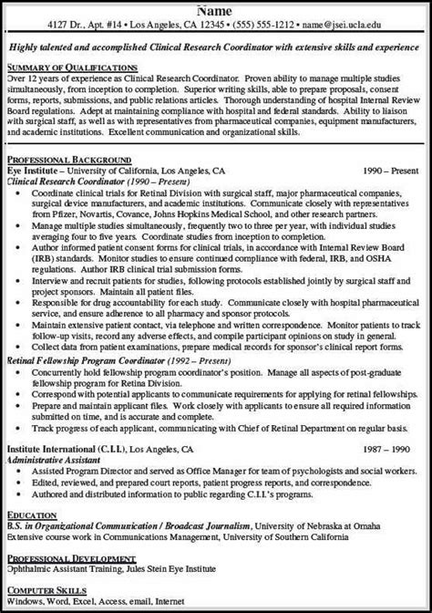 Clinical Resume Exles by Clinical Research Associate Resume Is Sometimes Not
