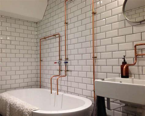 Jenny's Vintage Industrial Bathroom   Metro Tiles   Walls