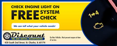 cheap check engine light tire auto repair coupons discount tire service inc
