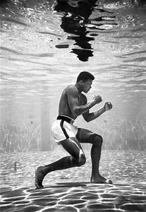 Muhammad Ali (then still Cassius Clay) training in a pool ...