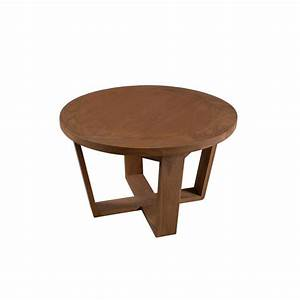 Table Basse Bois : petite table basse ronde bois cannelle 65x65x40 fanny pier import ~ Teatrodelosmanantiales.com Idées de Décoration