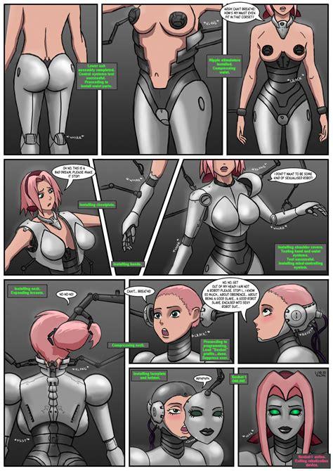 Robot Transformation Comic Cloudy Girl Pics