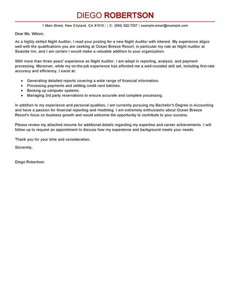 Cover Letter For Audit Trainee by Sle Application Letter For Audit Resume Format