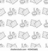 Crackers Cream Outline Shutterstock sketch template