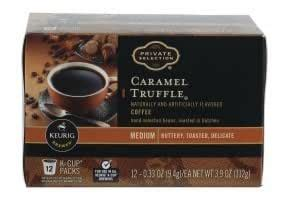 Keurig is a registered trademark of keurig green mountain, inc. Private Selection Medium Caramel Truffle Coffee K-Cup Pods ...