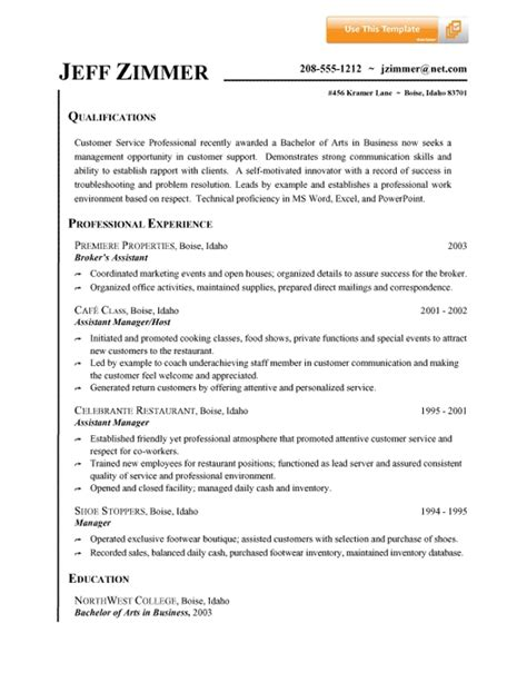 Exle Of A Resume For A Person With No Work Experience by Customer Service Resume Summary Jvwithmenow