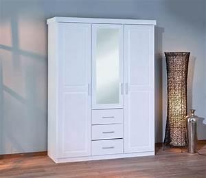 Armoire A Vetement : armoire v tements geraldo pin massif ton blanc sb meubles discount ~ Teatrodelosmanantiales.com Idées de Décoration