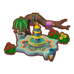 exotic fountain animal crossing pocket camp wiki