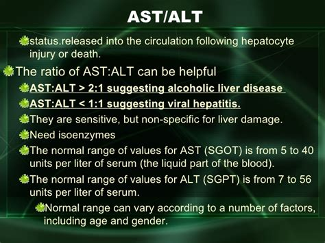 sgpt levels normal range liver disease