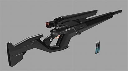 Sniper Rifle Artstation Future Weapons Guns Fantasy